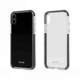 CELLY IPHONE X HEXAGON COVER CLEAR BLACK - Laukut ja kotelot - 8021735730903 - 1