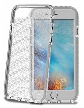 CELLY IPHONE 6/6S/7 HEXAGON COVER CLEAR GREY - Laukut ja kotelot - 8021735725794 - 1