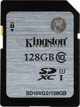KINGSTON 128GB SDXC CL10 UHS-I - Muistikortit - 740617243567 - 1