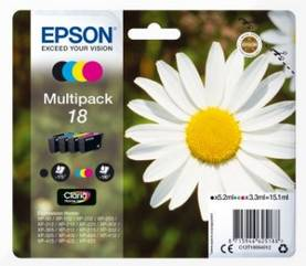 EPSON 18 INK CARTRIDGE 4-PACK MULTIPACK - Musteet, paperit ja väripatruunat - 8715946625188 - 1