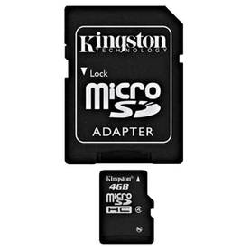 KINGSTON 4GB MICROSDHC CLASS 4 - Muistikortit - 740617120639 - 1